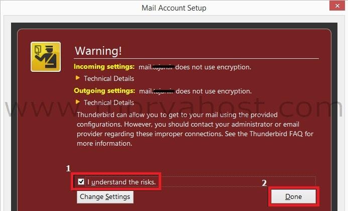 thunderbird email setting