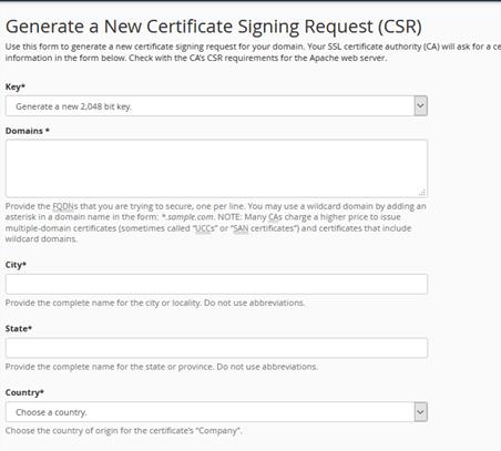 cpanel CSR generation-csr1